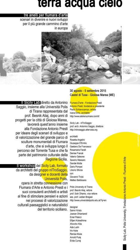 cover sicily lab 2015 fiumara d'arte antonio presti