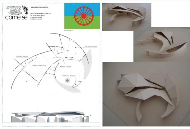 Progetto per una sala per Matrimoni ed Eventi, arch. R. Angelini, consulente al progetto Prof. A. Saggio, consulente al programma la Cooperativa CivicoZero, Save The Children Italia