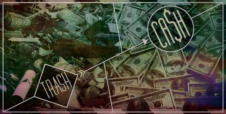 #trashcash cover. Illustrazione di Giuseppe D'Emilio | nITRo