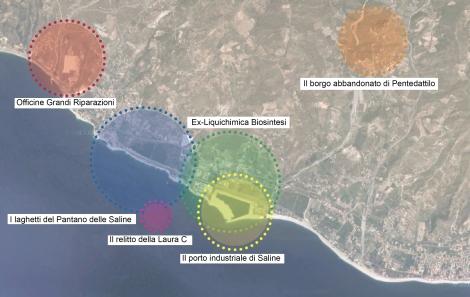 SalineJoniche: Foto aerea dell'area ©AutonomeForme