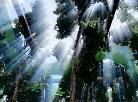 SalineJoniche: Vista del giardino infinito all'interno della Officine Grandi Riparazioni ©AutonomeForme