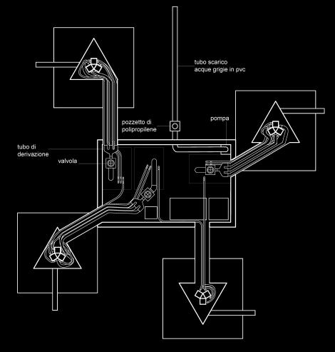 Pianta degli elementi interrati con la camera di controllo. Image courtesy @ecoLogicStudio