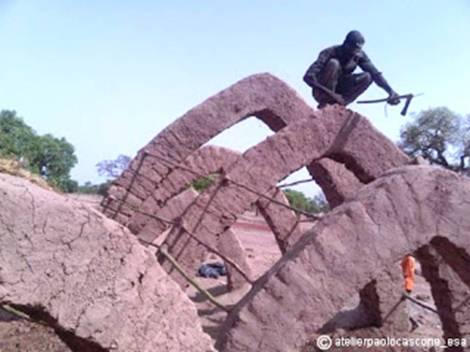 Work in progress- Sourgoubila project (Burkina Faso) realizzato con gli studenti dell'AtelierPaoloCascone-Esa e con la comunità locale