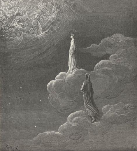 Gustave Dorè, Illustrazione per il canto XXVIII del Paradiso della Divina Commedia di Dante Alighieri 1861 – 1868 fonte: gutenberg.org