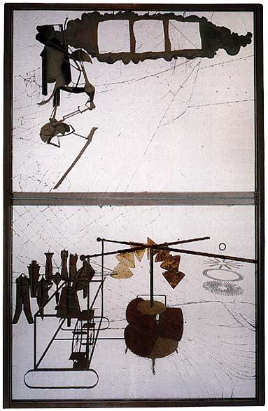 Marcel Duchamp., Il Grande Vetro 1912 - 1923 fonte: www.francescomorante.it