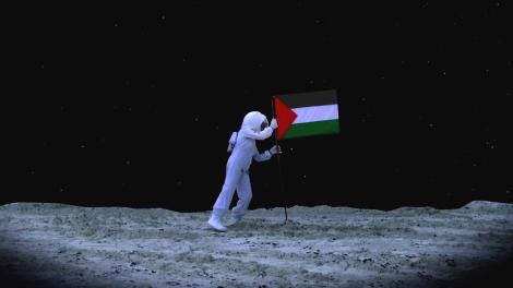 Larissa Sansour, A Space Exodus, 2009. Through www.larissasansour.com