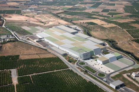 Aerial view, 2012. Courtesy of Israel Alba Architect