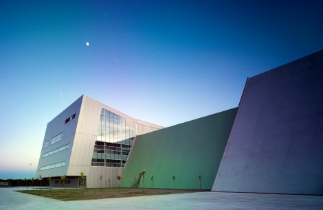 Waste Treatment Plant-exterior, 2012. Photographer: Jesus Granada. Courtesy of Israel Alba Architect