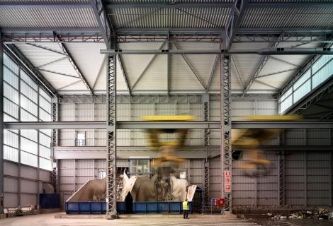 Waste Treatment Plant-interior, 2012. Photographer: Jesus Granada. Courtesy of Israel Alba Architect