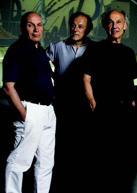 I tre Fondatori di Studio Azzurro; Da sinistra: Leonardo Sangiorgi, Paolo Rosa e Fabio Cirifino. Foto di Elisabetta Catalano © Studio Azzurro